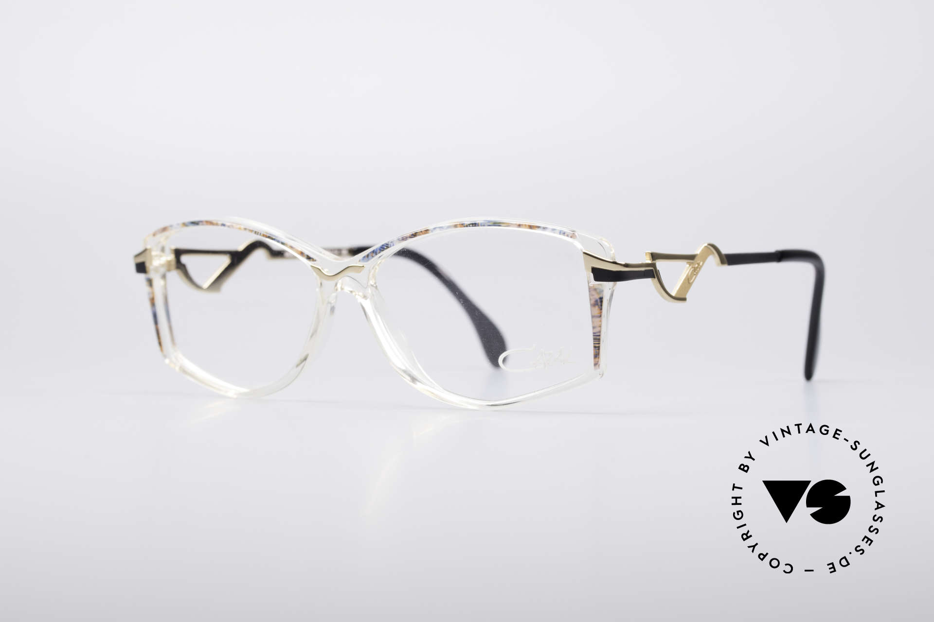 Cazal 369 90's Ladies Designer Glasses, striking temples & brilliant combination of materials, Made for Women