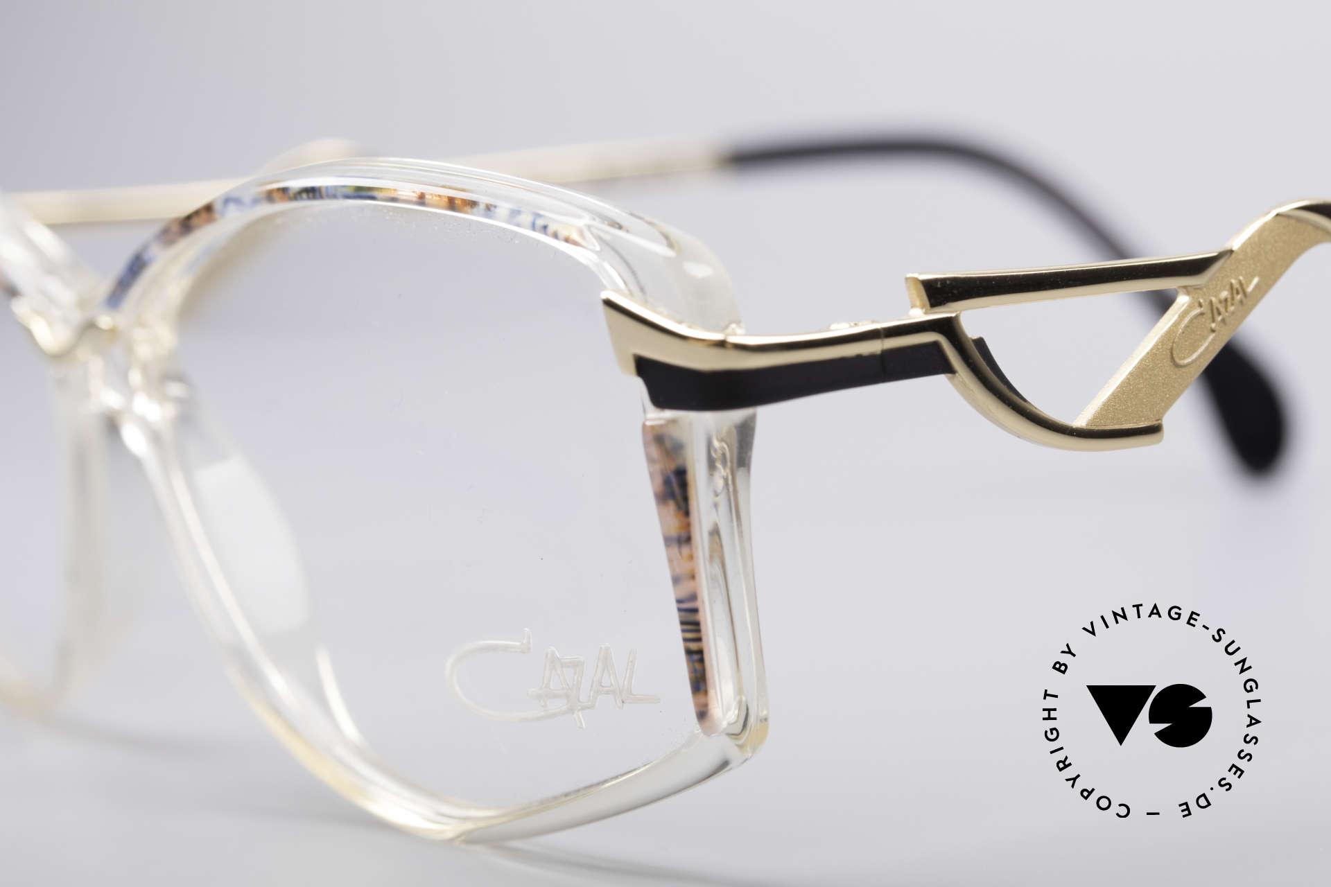 Cazal 369 90's Ladies Designer Glasses, Cazal color 825: crystal / pistachio mulitcolor / gold, Made for Women