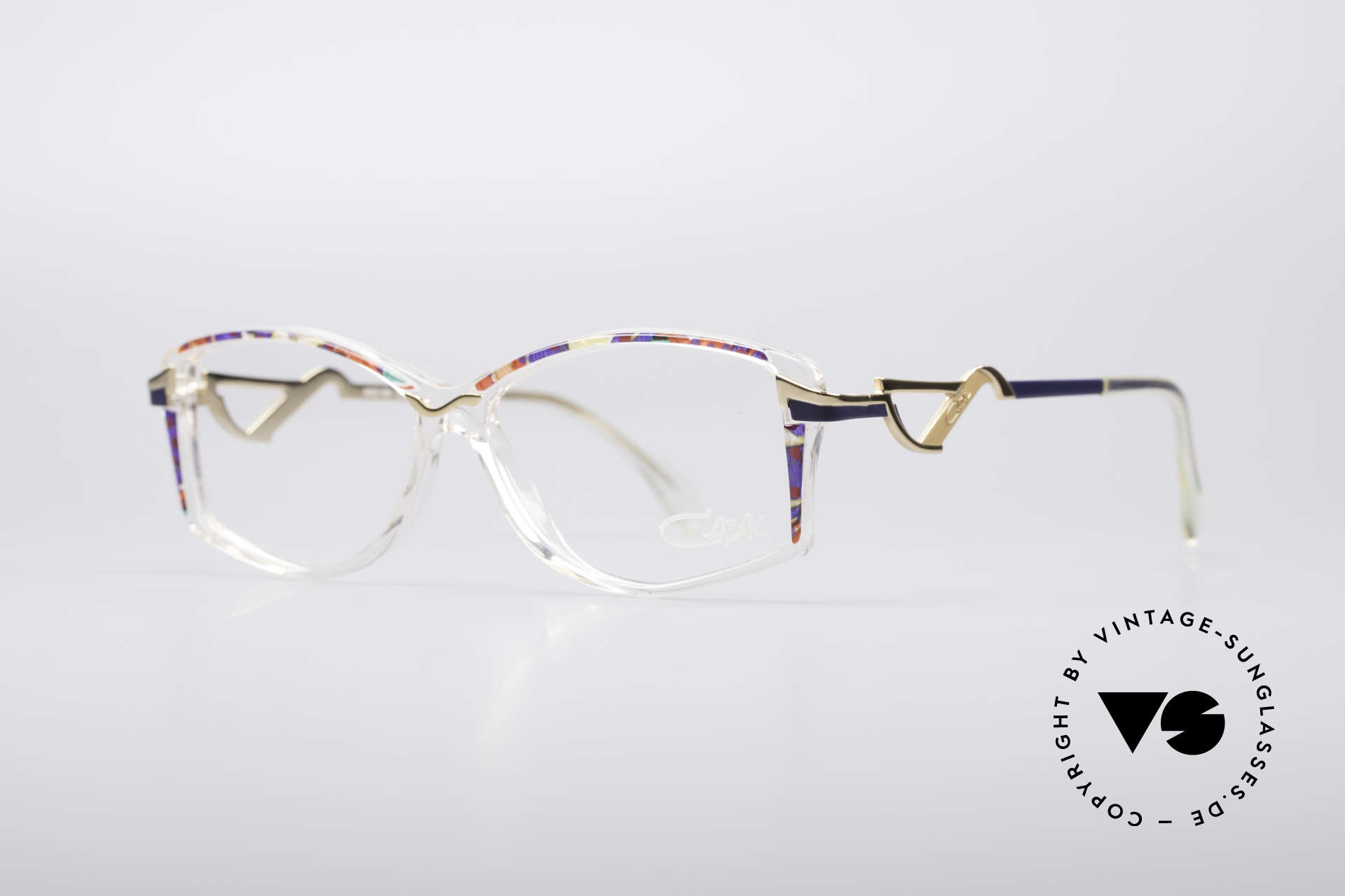 Cazal 369 90's Vintage No Retro Specs, striking temples & brilliant combination of materials, Made for Women