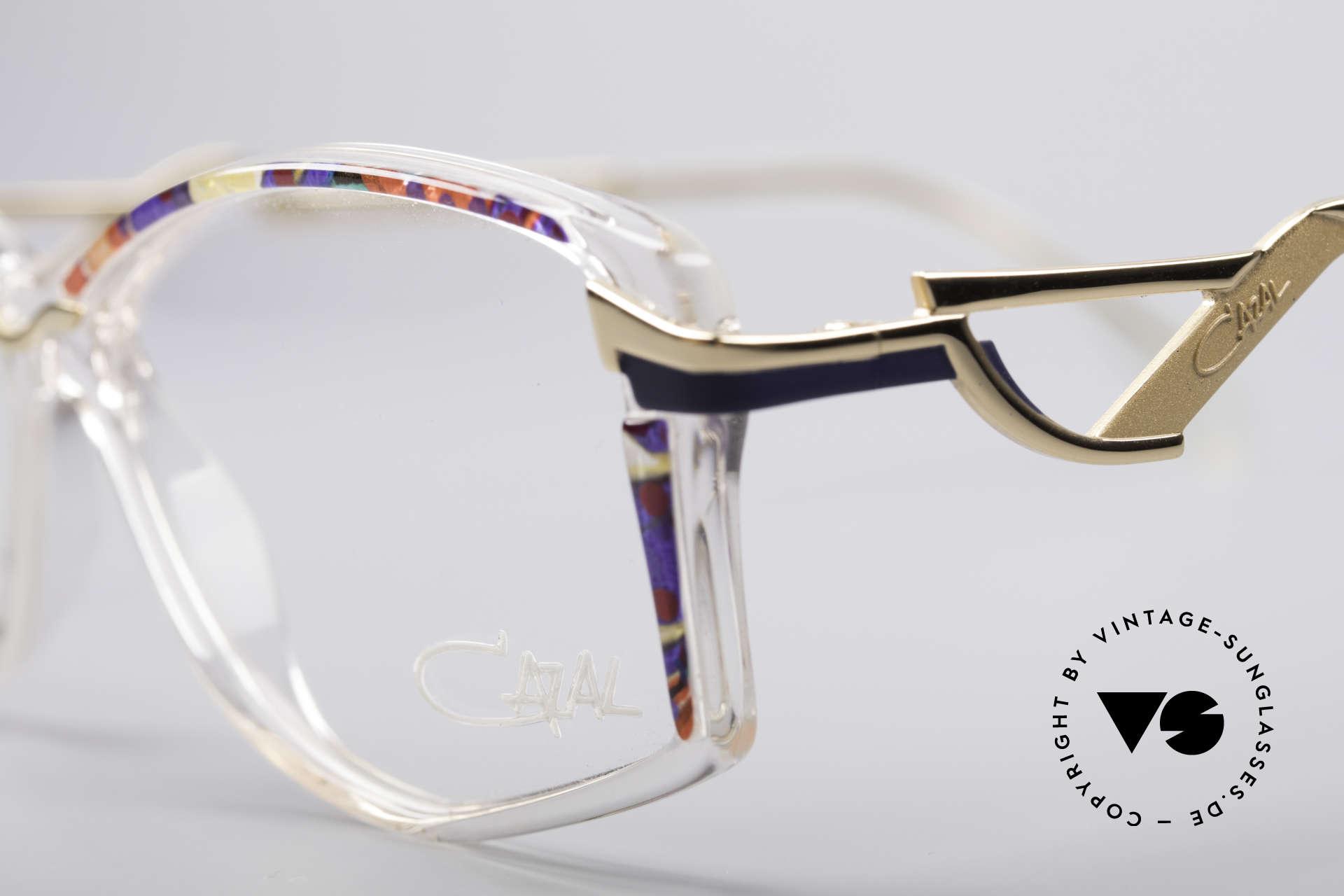 Cazal 369 90's Vintage No Retro Specs, official Cazal col. code 813: crystal / multicolor / gold, Made for Women