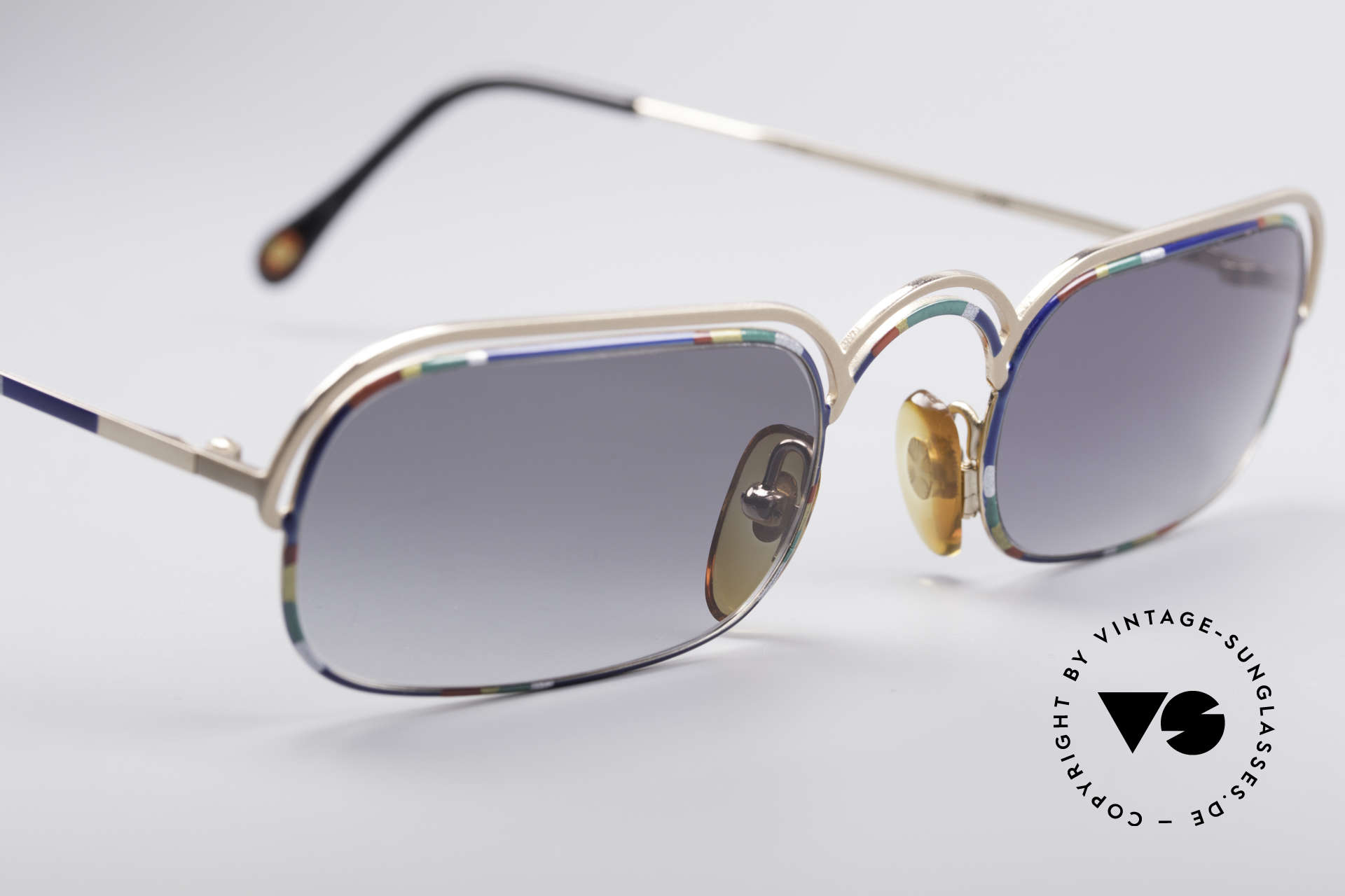 Casanova DV14 Dolce Vita Sunglasses, colourful and curved metal frame in premium quality, Made for Men and Women