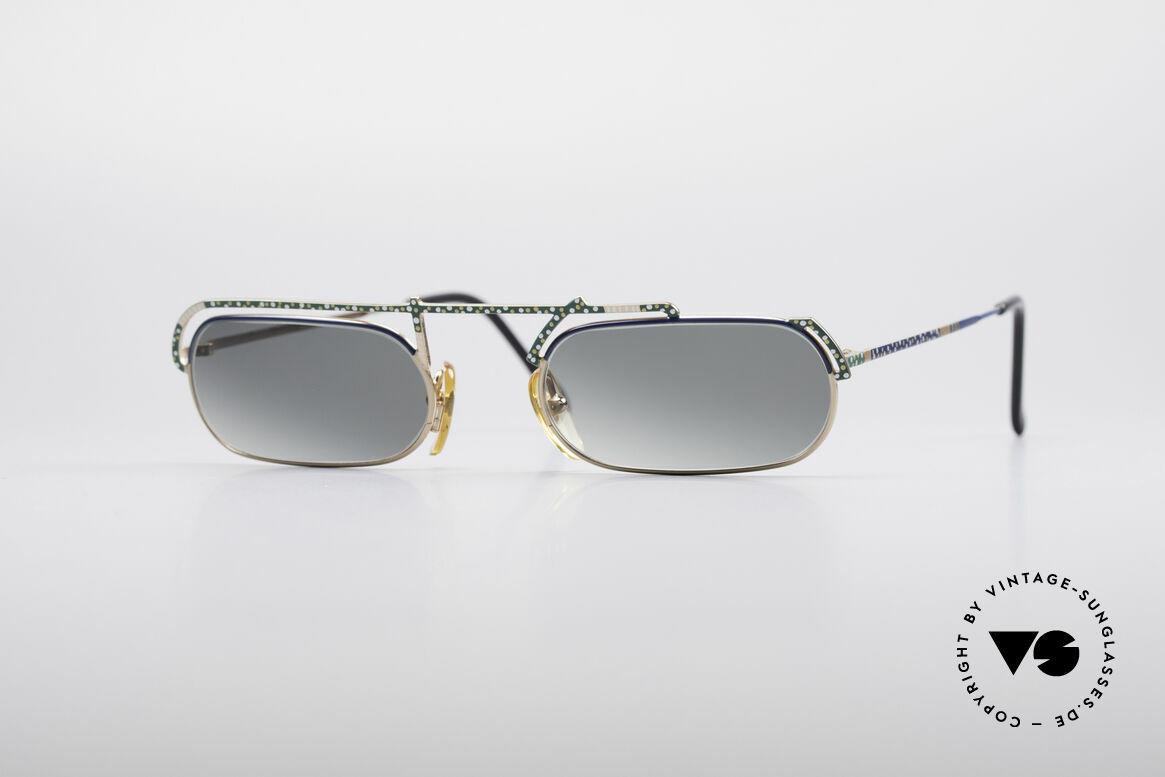 Casanova LC29 Artful 80's Sunglasses, interesting Casanova sunglasses from around 1985, Made for Men and Women