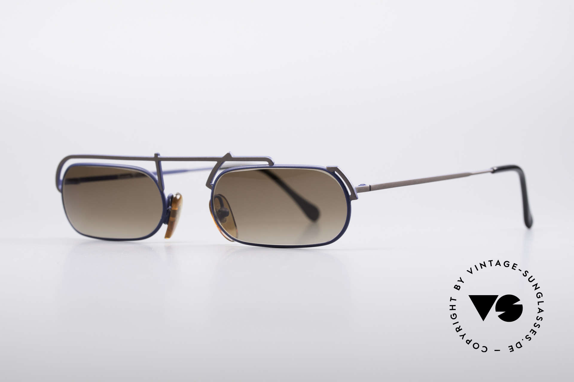 Casanova LC29 Artful 80's Sunglasses, asymmetrical frame construction; true eye-catcher, Made for Men and Women