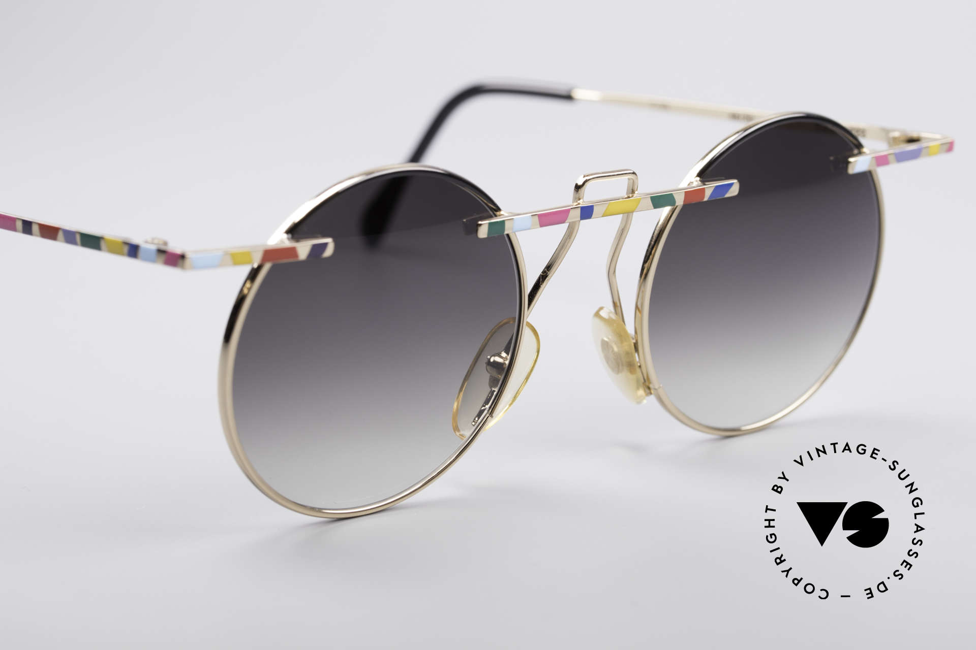 Taxi 222 by Casanova 80's Art Shades, sun lenses (gray-gradient) can be replaced optionally, Made for Women