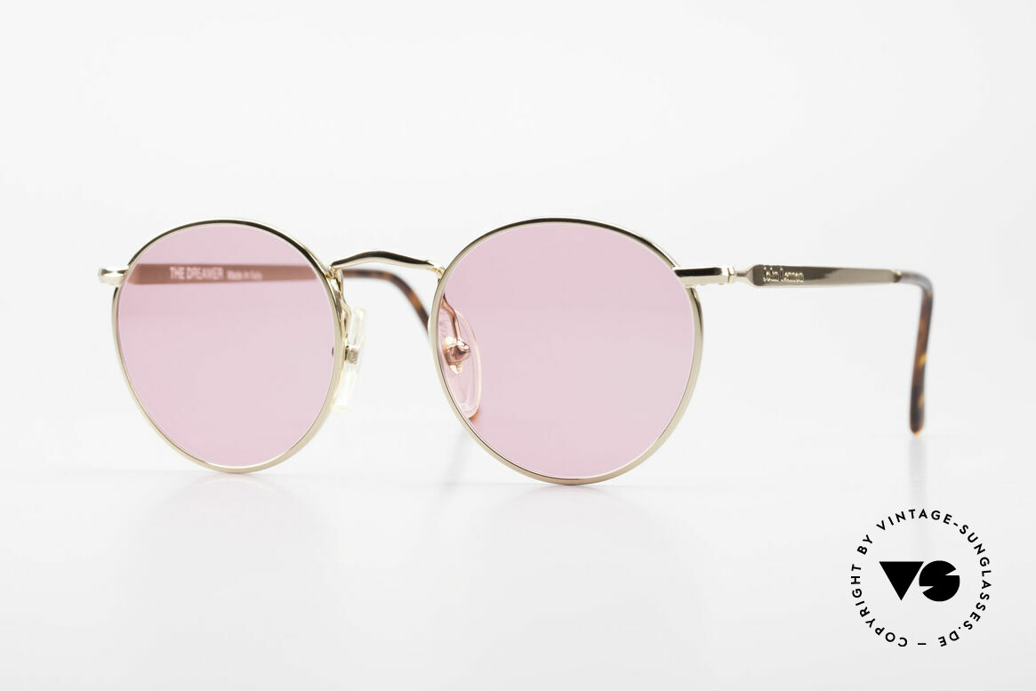 John Lennon - The Dreamer X-Small Pink Vintage Glasses, mod. 'The Dreamer': panto sunglasses in 47mm size (XS), Made for Men and Women