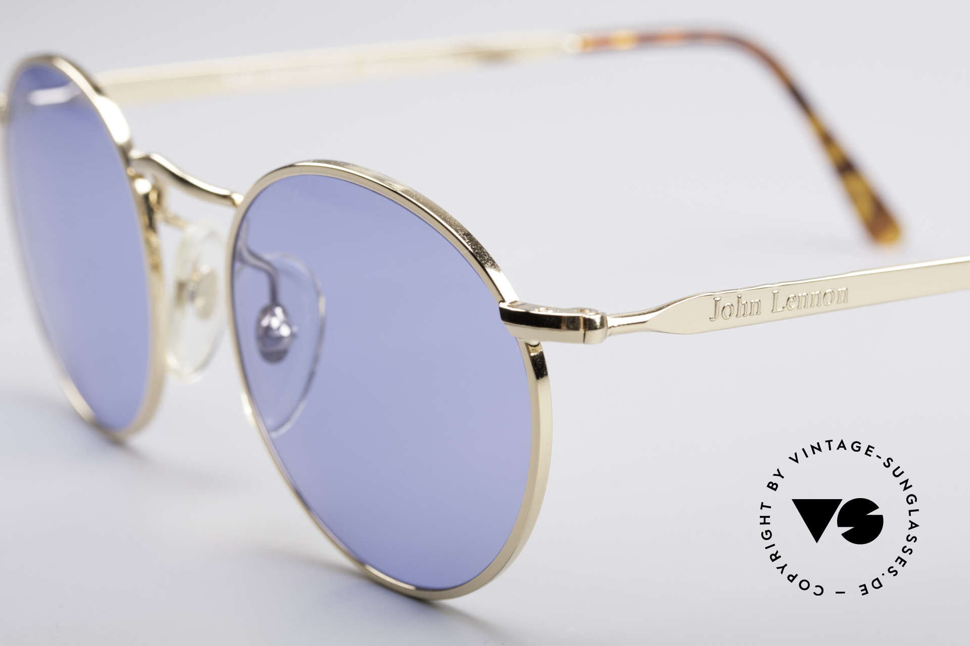 John Lennon - The Dreamer Extra Small Vintage Shades, blue sun lenses (for 100% UV protection); simply unique, Made for Men and Women