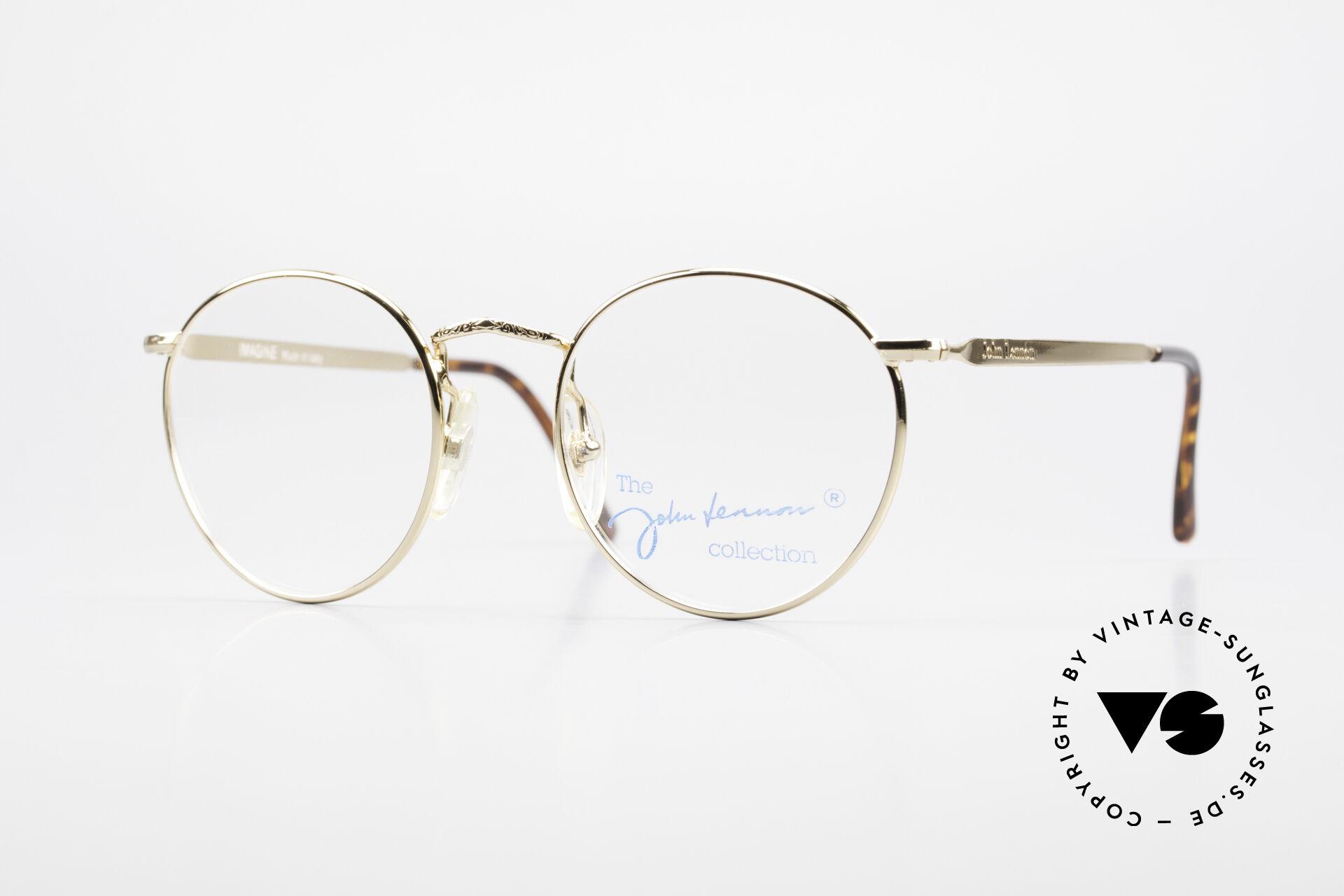 John Lennon - Imagine Small Round Vintage Frame, model 'IMAGINE': panto eyeglass-frame in 49mm size, Made for Men and Women