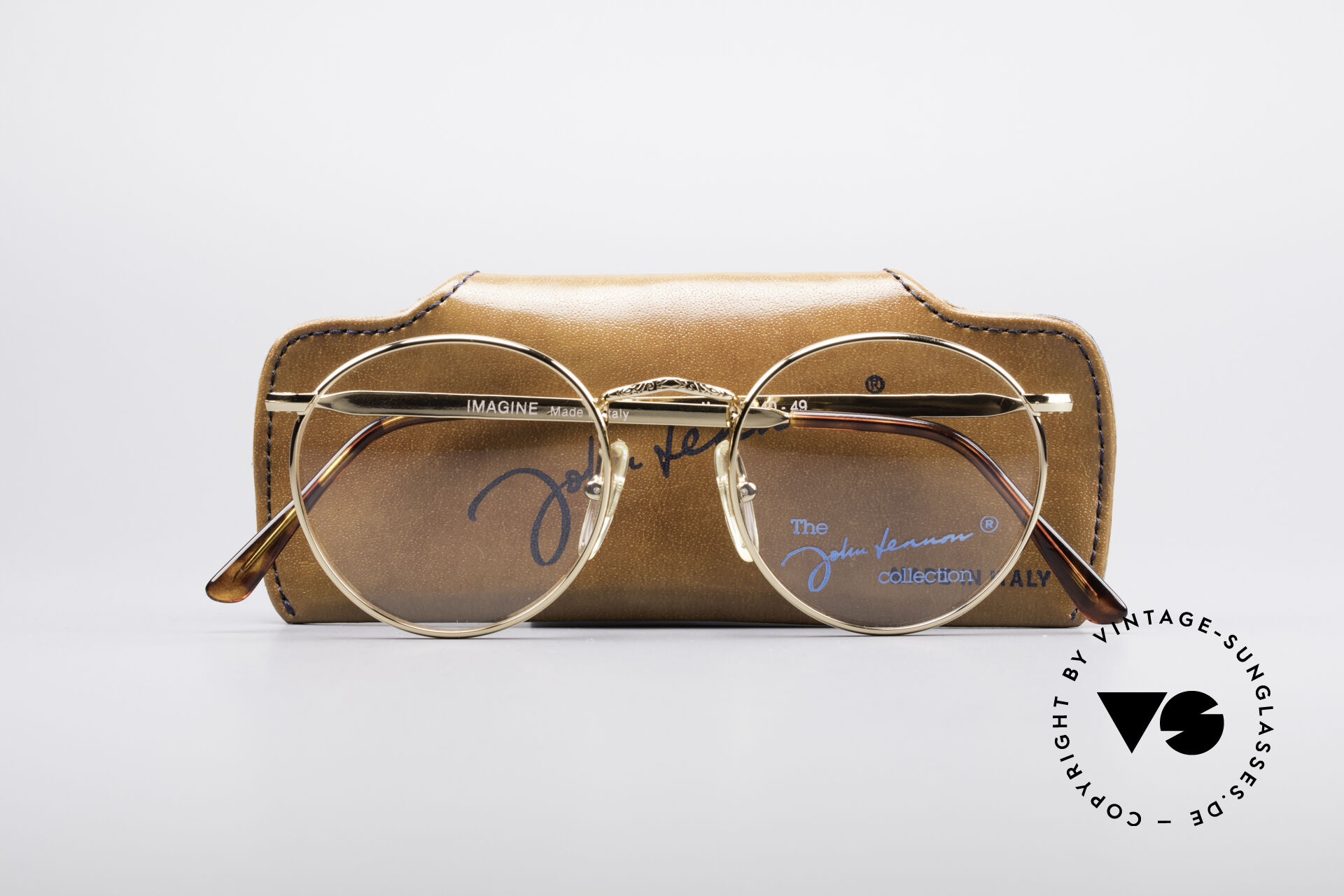 John Lennon - Imagine Small Round Vintage Frame, NO RETRO PANTO EYEGLASSES; but a rare old Original!, Made for Men and Women