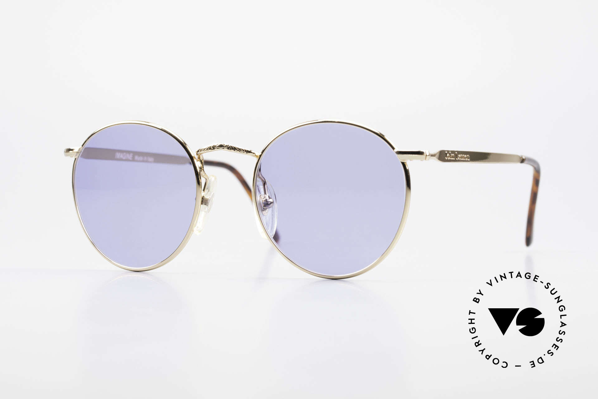 John Lennon - Imagine Original John Lennon Glasses, model 'IMAGINE': panto sunglasses in small 49mm size, Made for Men and Women