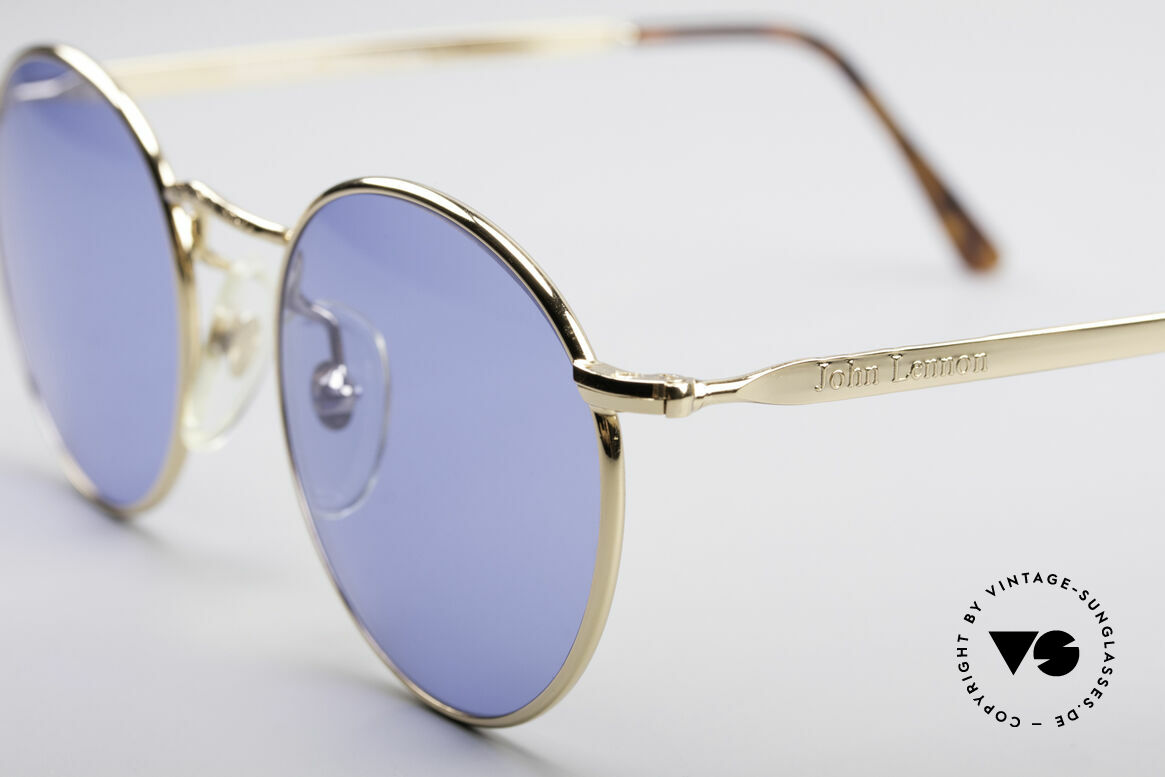 John Lennon - Imagine Original John Lennon Glasses, blue sun lenses (for 100% UV protection); simply unique, Made for Men and Women