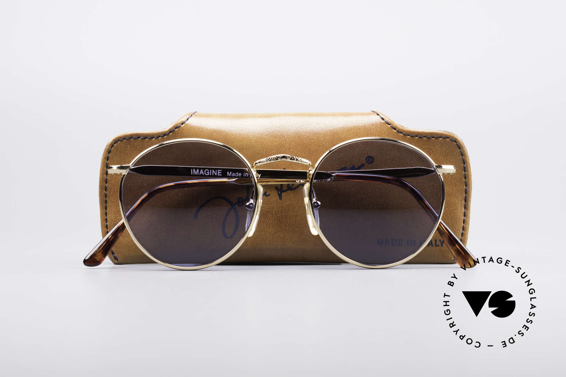 John Lennon - Imagine Original John Lennon Glasses, NO RETRO PANTO SUNGLASSES; but a rare old Original!, Made for Men and Women