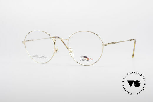 John Lennon - Steel And Glass Round Vintage Frame Details