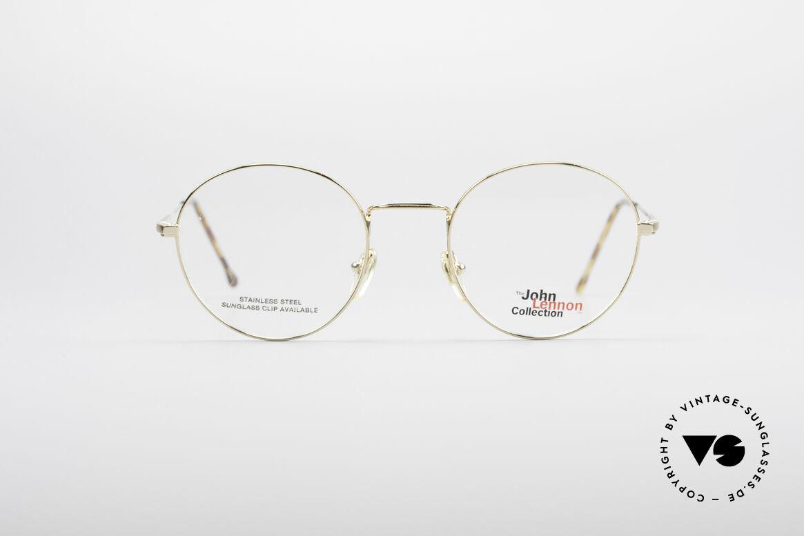 John Lennon - Steel And Glass Round Vintage Frame, vintage glasses of the original 'John Lennon Collection', Made for Men