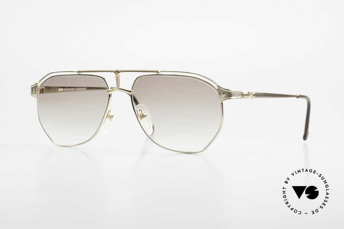 MCM München 6 Rare XL 90's Luxury Sunglasses, extra large designer shades by MCM of the early 90's, Made for Men