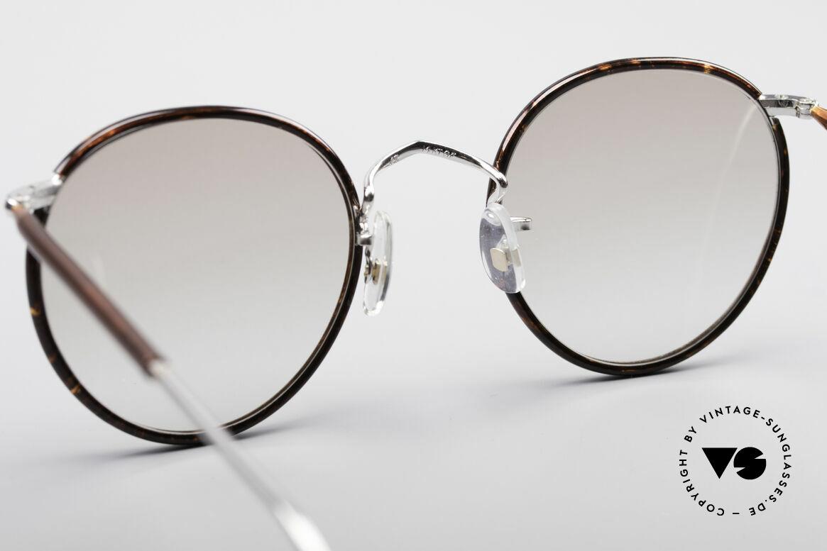Savile Row Panto 49/22 Johnny Depp Glasses, unworn, size 49/22; light brown tinted sun lenses, Made for Men