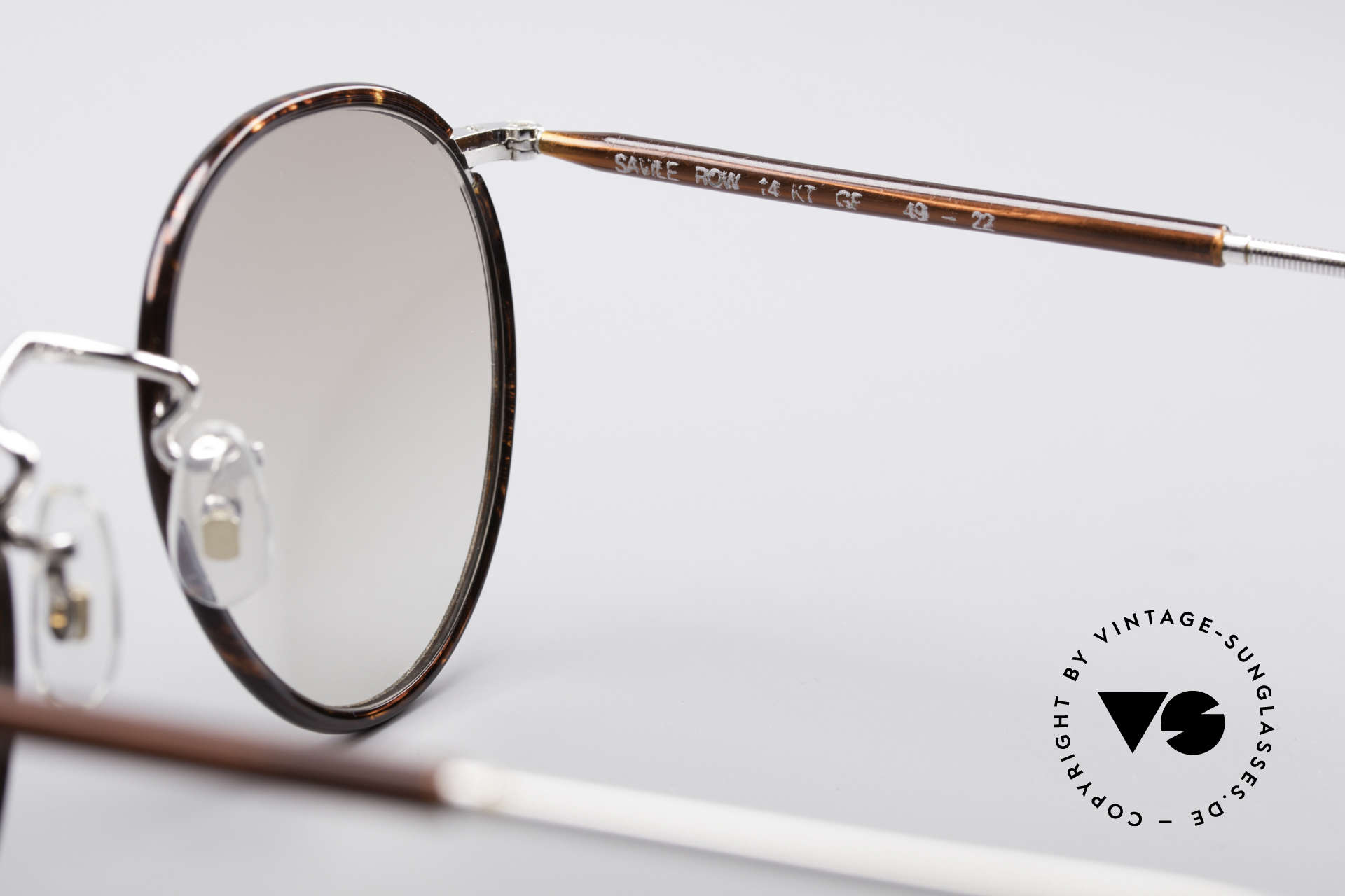 """Savile Row Panto 49/22 Johnny Depp Glasses, worn by famous JOHNNY DEPP (""""The Ninth Gate""""), Made for Men"""