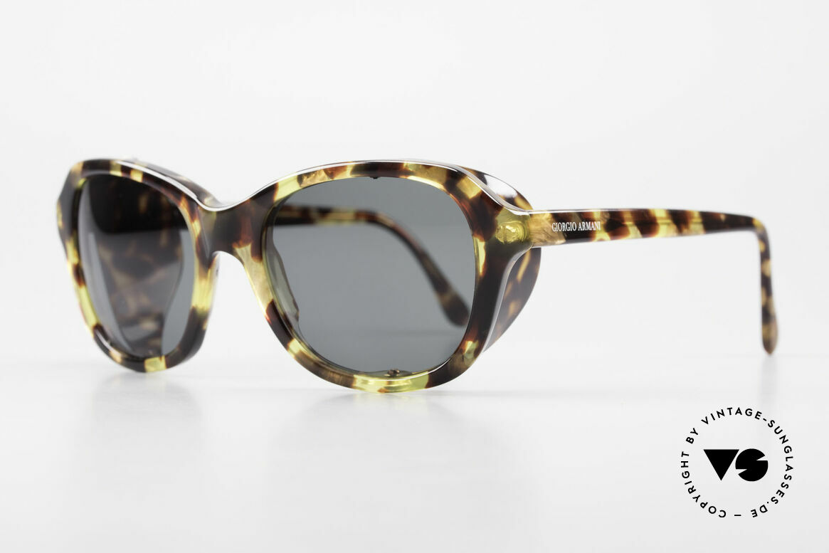 "Giorgio Armani 826 No Retro Sunglasses True 90s, terrific frame pattern in a kind of ""amber - tortoise"", Made for Women"