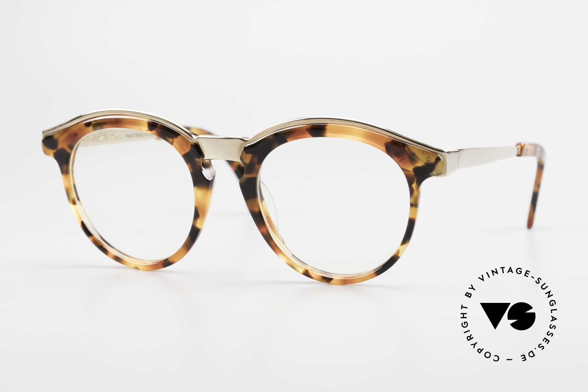 Alain Mikli 626 / 281 Old 80's Vintage Panto Glasses, round vintage designer eyeglasses by ALAIN MIKLI, Made for Men