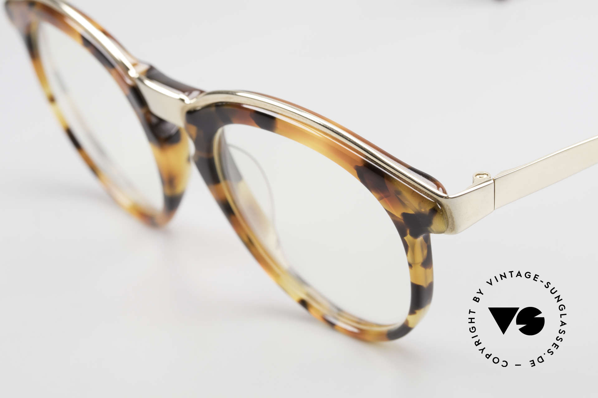 Alain Mikli 626 / 281 Old 80's Vintage Panto Glasses, top craftsmanship & unique frame coloring / pattern, Made for Men