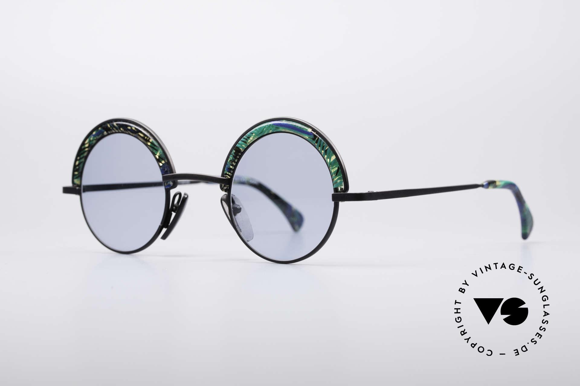 Alain Mikli 631 / 391 Round Designer Shades, premium craftsmanship & unique frame coloring, Made for Men and Women