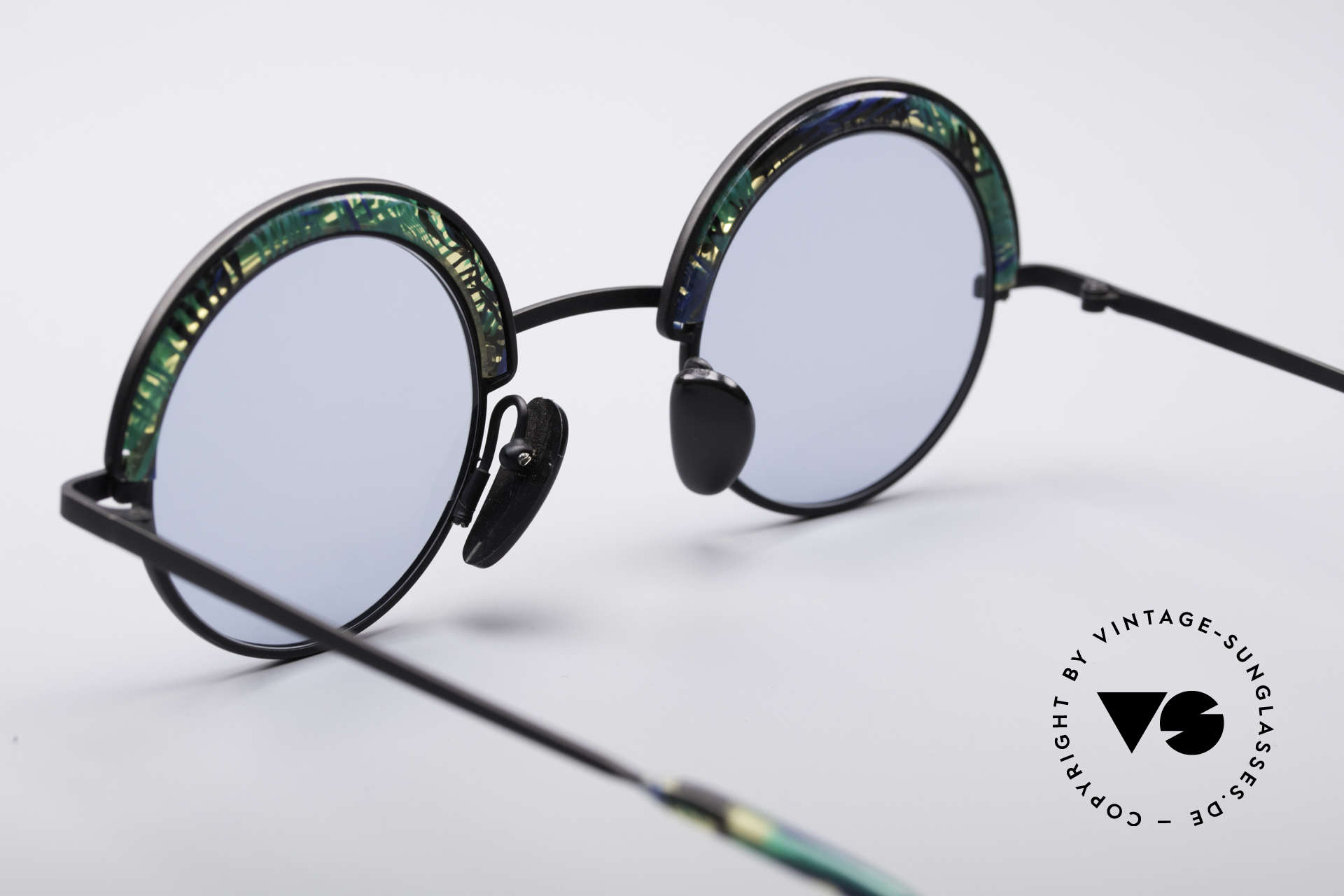 Alain Mikli 631 / 391 Round Designer Shades, NO retro fashion, but a rare 29 years old original!, Made for Men and Women