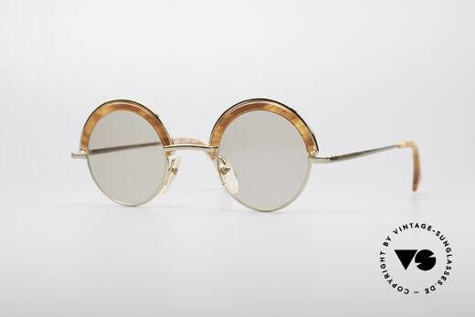 Alain Mikli 631 / 246 Round 80's Glasses Details