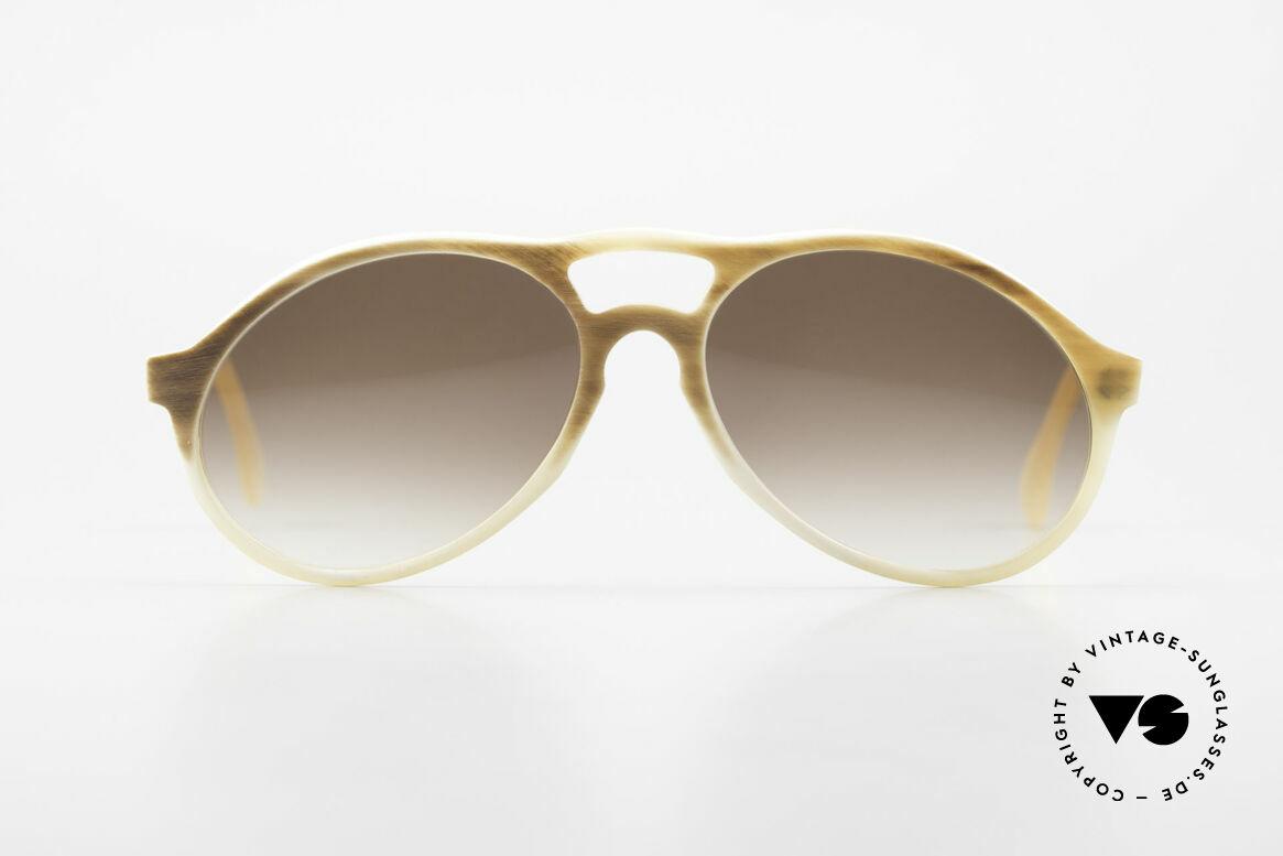 Bugatti 7343 Genuine Buffalo Horn Frame, precious 80's Bugatti vintage sunglasses; size 54-16, Made for Men