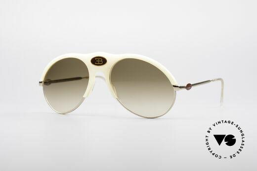 Bugatti 64748 Ivory Optic 70's Glasses Details