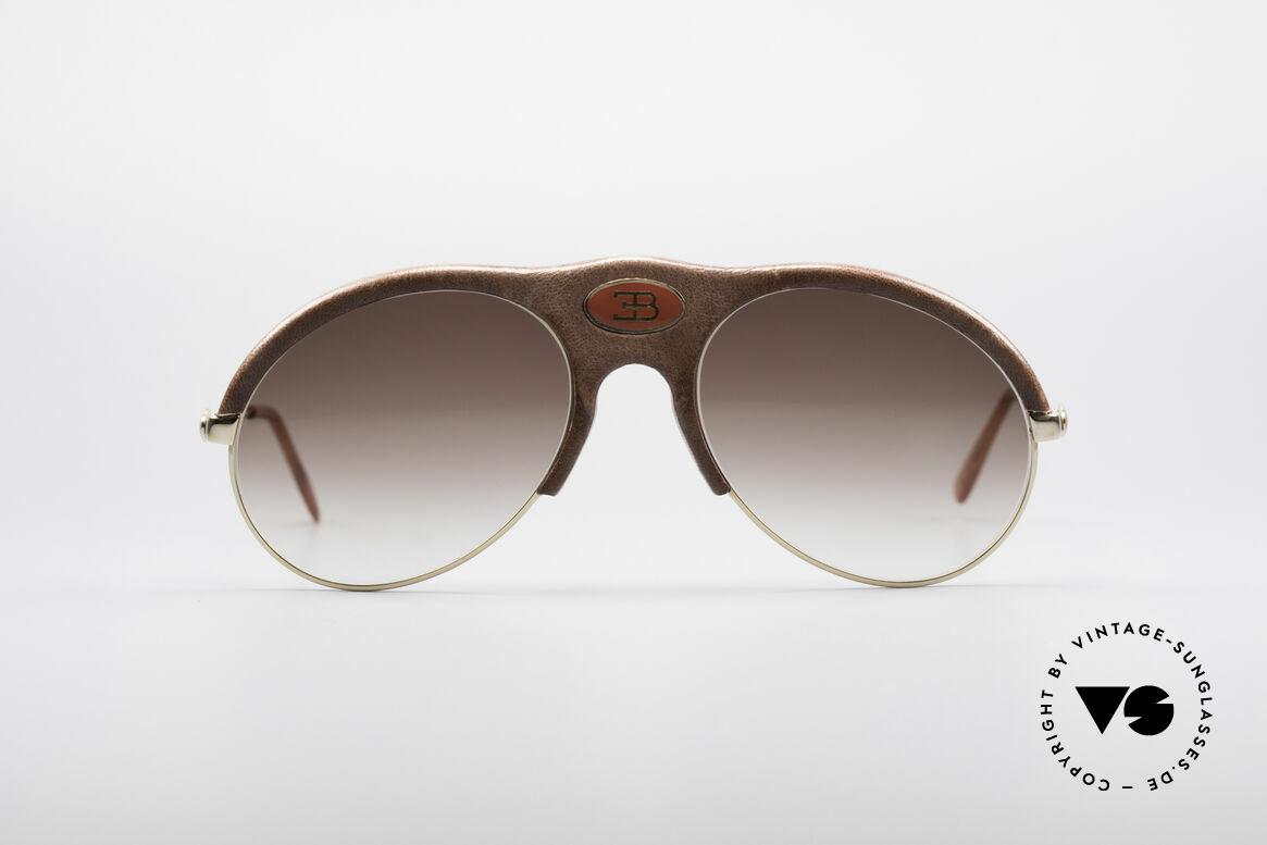 Bugatti 64752 70's Leather Sunglasses