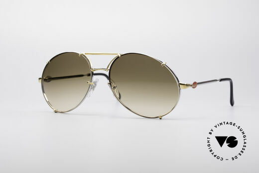 Bugatti 65360 80's Frame With Extra Lenses Details