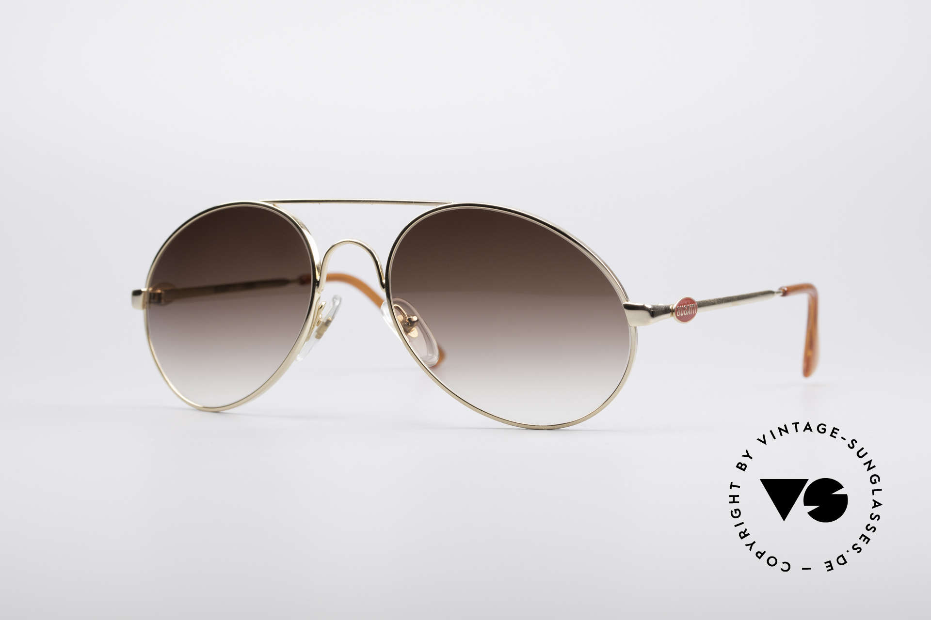 Bugatti 65986 Luxury 80's Sunglasses, classic Bugatti sunglasses from app. 1985/86, Made for Men