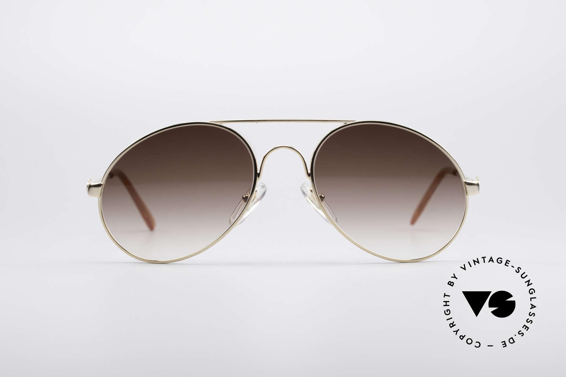 Bugatti 65986 Luxury 80's Sunglasses, legendary vintage BUGATTI 'tear drop' design, Made for Men