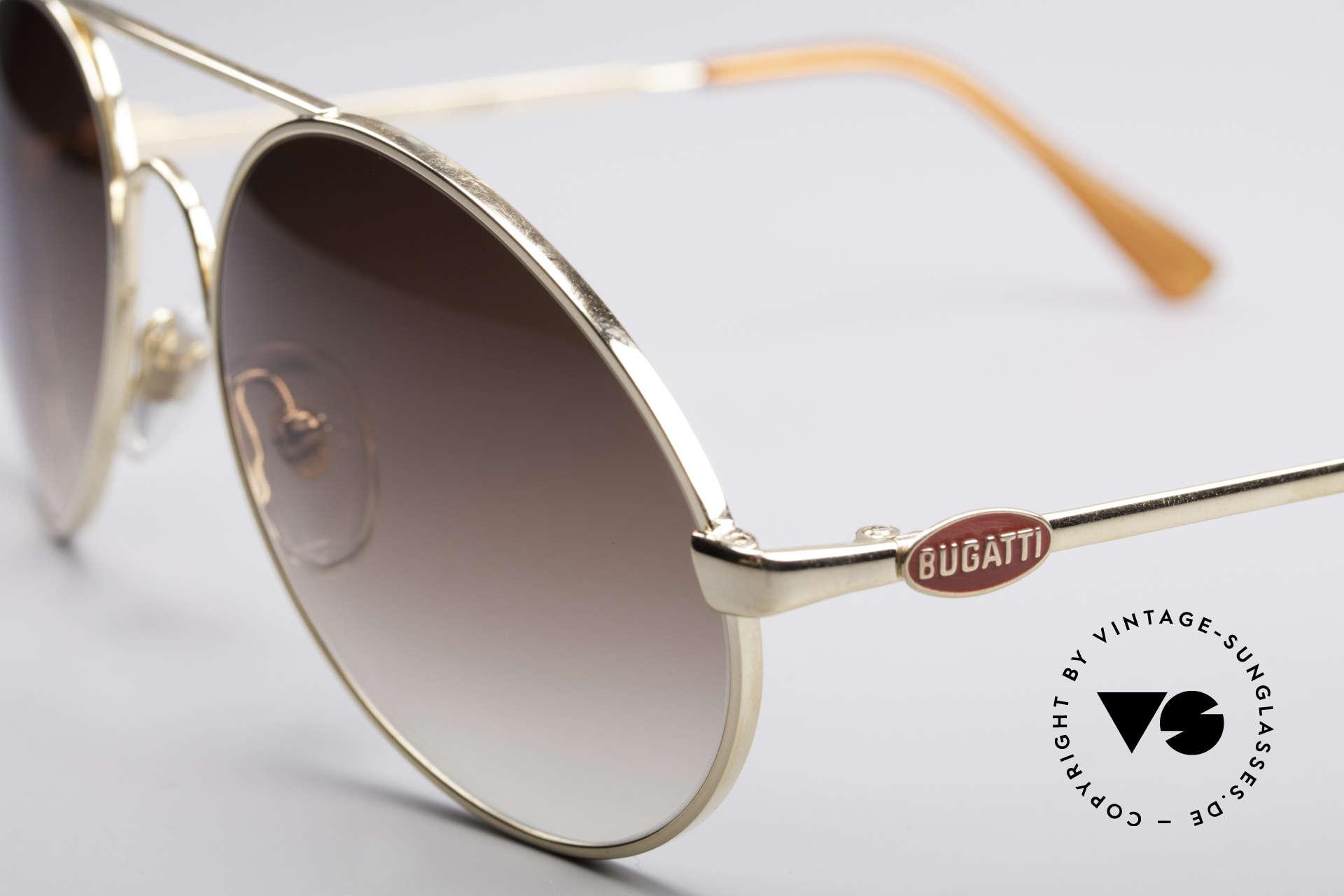 Bugatti 65986 Luxury 80's Sunglasses, premium craftsmanship and MEDIUM size 54, Made for Men