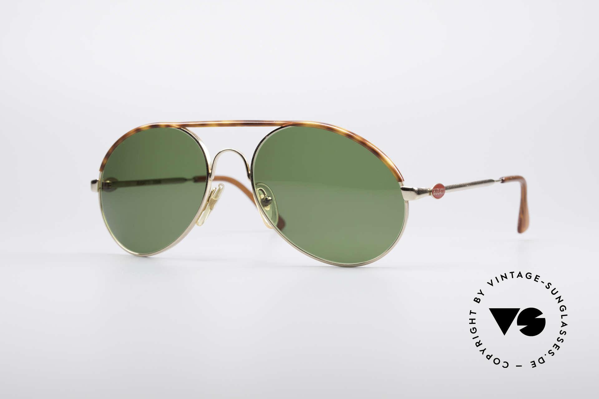 Bugatti 65986 Men's 80's Sunglasses, classic Bugatti sunglasses from app. 1985/86, Made for Men