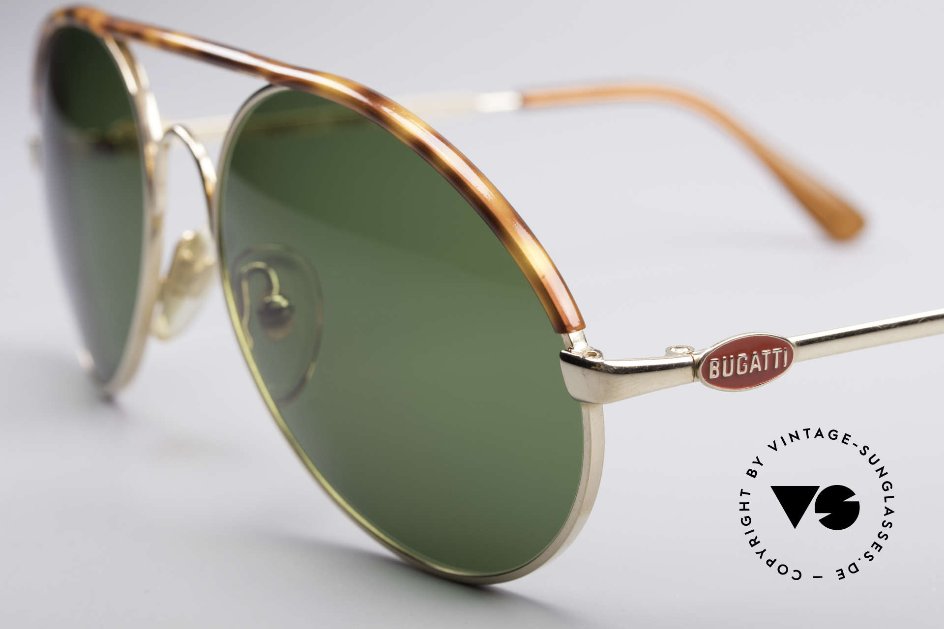 Bugatti 65986 Men's 80's Sunglasses, premium craftsmanship and LARGE size 56mm, Made for Men