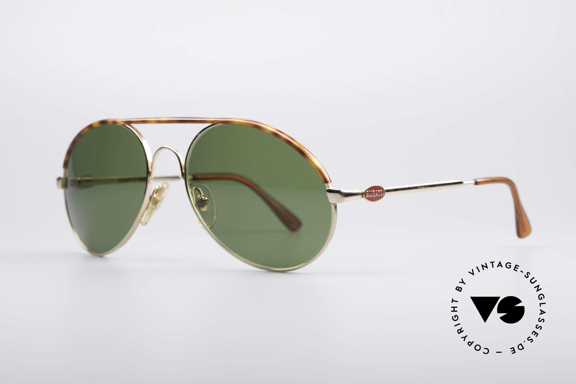 Bugatti 65986 Men's 80's Sunglasses, basic mod. 65986 refined with tortoise appliqué, Made for Men