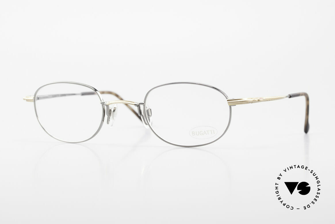 Bugatti 23592 Rare 90's Luxury Eyeglasses, ergonomic frame design (1st class wearing comfort), Made for Men