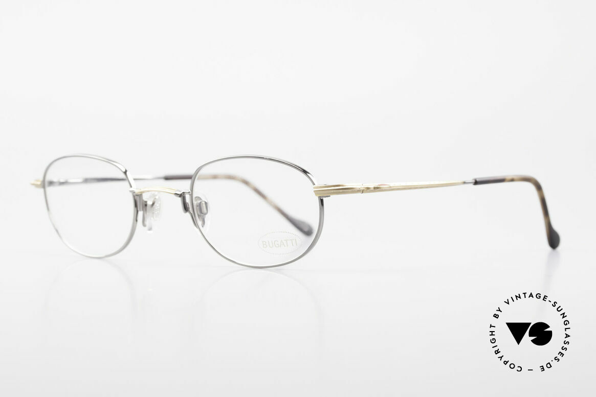 Bugatti 23592 Rare 90's Luxury Eyeglasses, flexible spring hinges & lightweight Titanium parts, Made for Men
