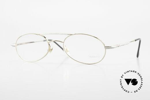 Bugatti 22996 Rare 90's Men's Eyeglass-Frame Details