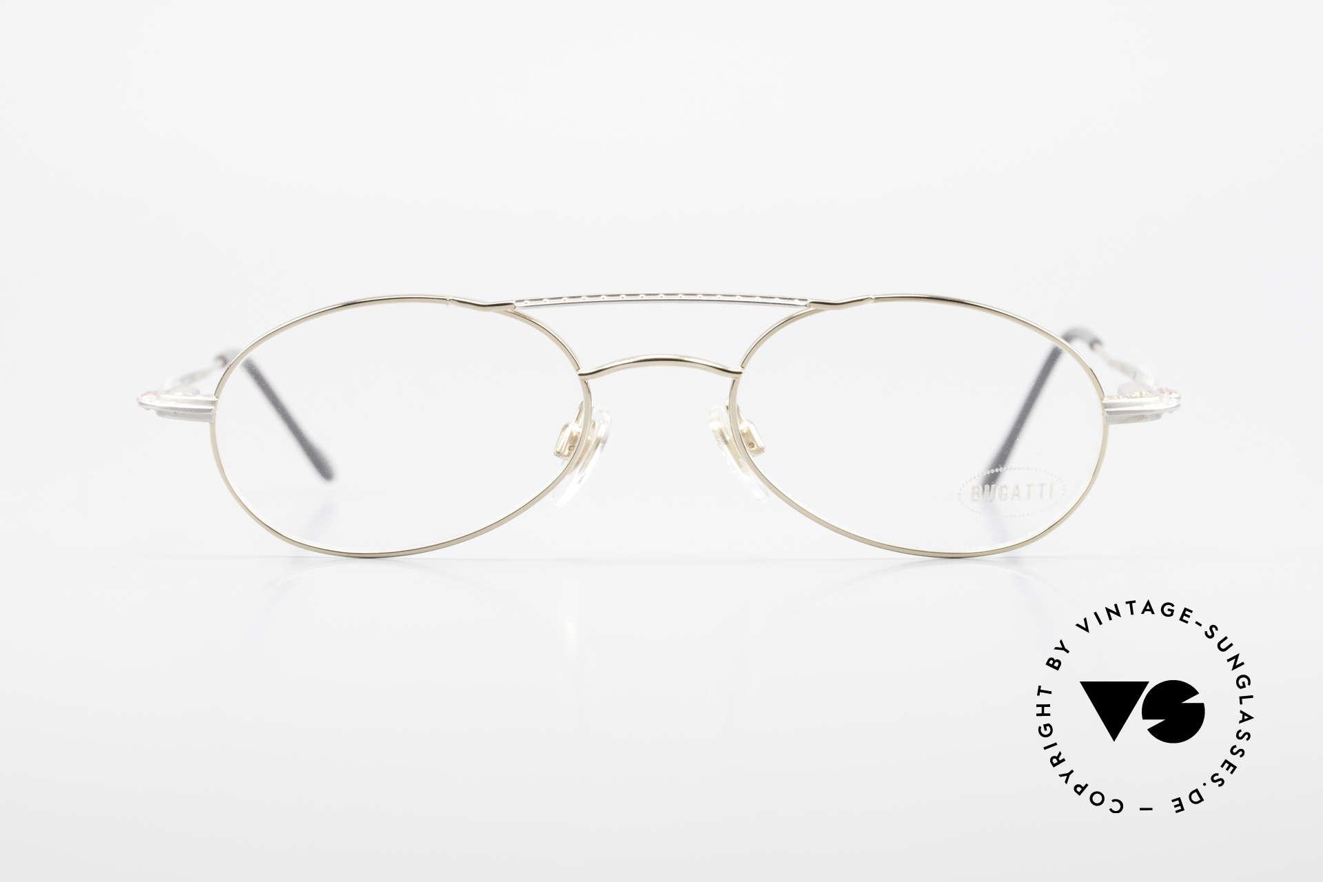 Bugatti 22996 Rare 90's Men's Eyeglass-Frame, ergonomic frame design (1st class wearing comfort), Made for Men