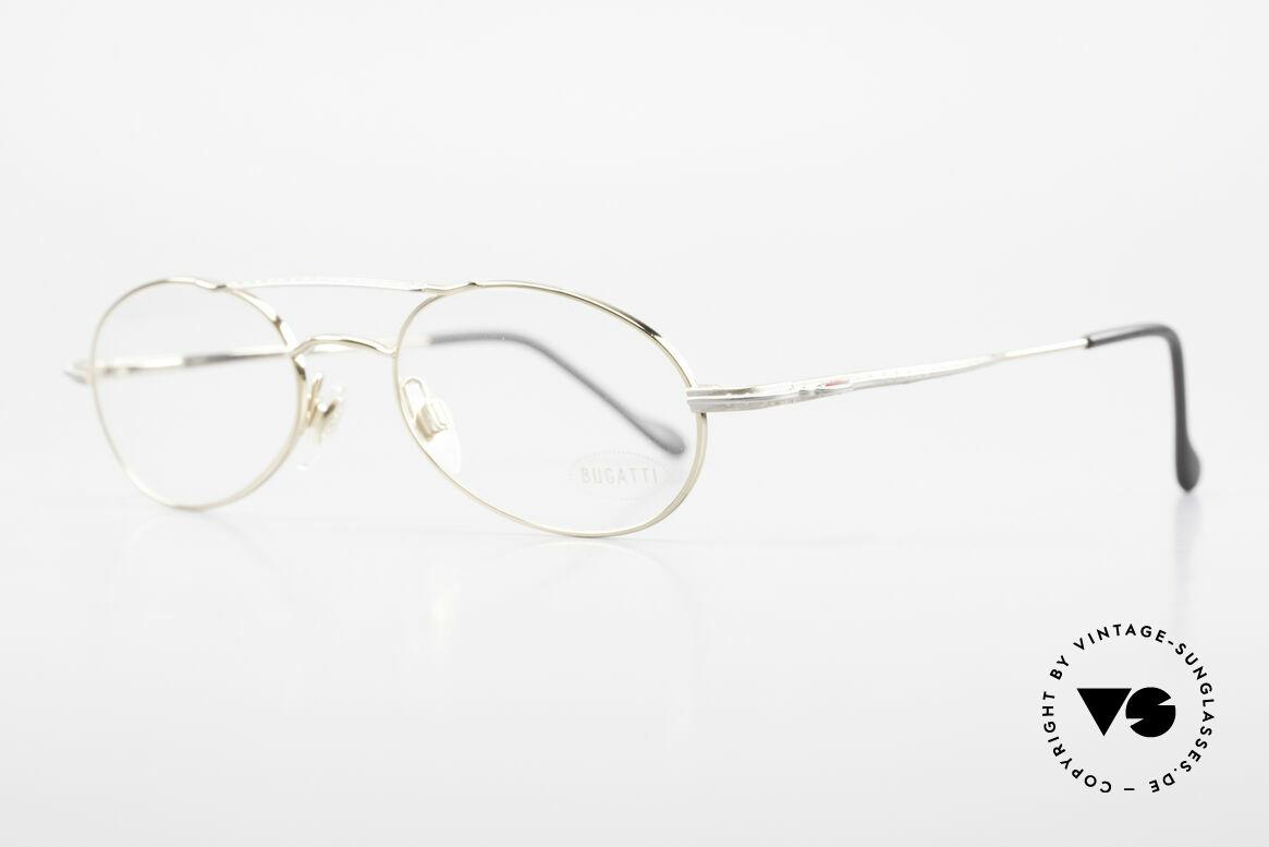 Bugatti 22996 Rare 90's Men's Eyeglass-Frame, flexible spring hinges & lightweight Titanium parts, Made for Men
