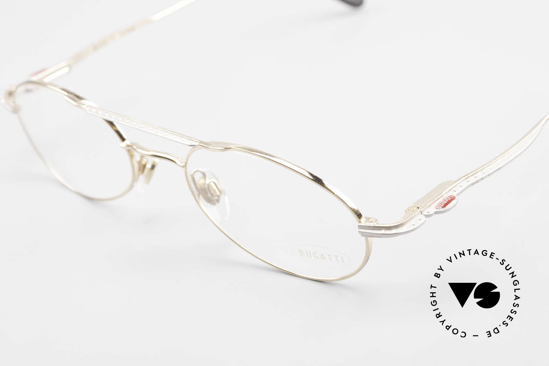 Bugatti 22996 Rare 90's Men's Eyeglass-Frame, made around 1995 in France; premium craftsmanship, Made for Men