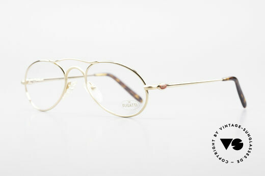 Bugatti 23407 Men's Eyeglasses With Clip On, metal frame can be glazed with lenses of any kind, Made for Men