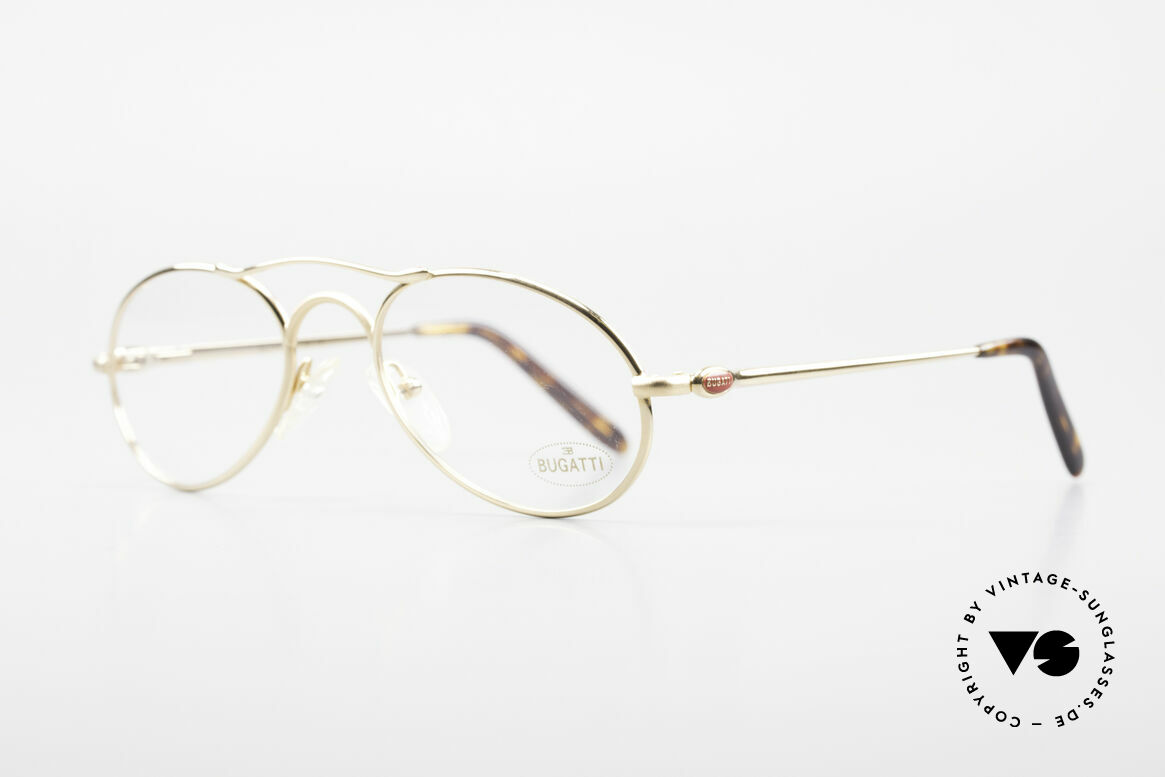 Bugatti 23407 90's Luxury Frame For Men, 1st class comfort due to flexible spring temples, Made for Men