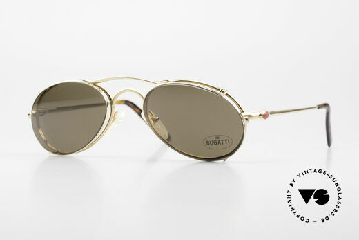 Bugatti 23407 Men's Eyeglasses With Clip On Details