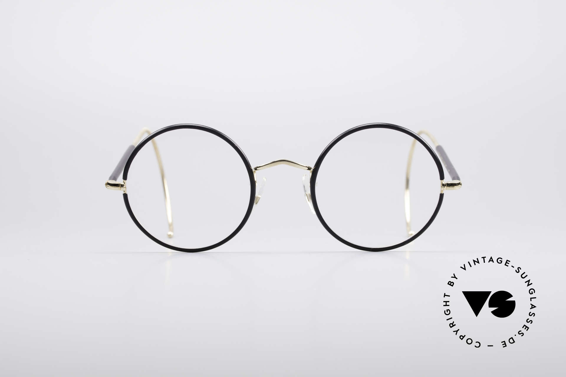 Savile Row Round 47/22 Harry Potter Glasses, timeless round vintage eyeglasses from the 1980's, Made for Men