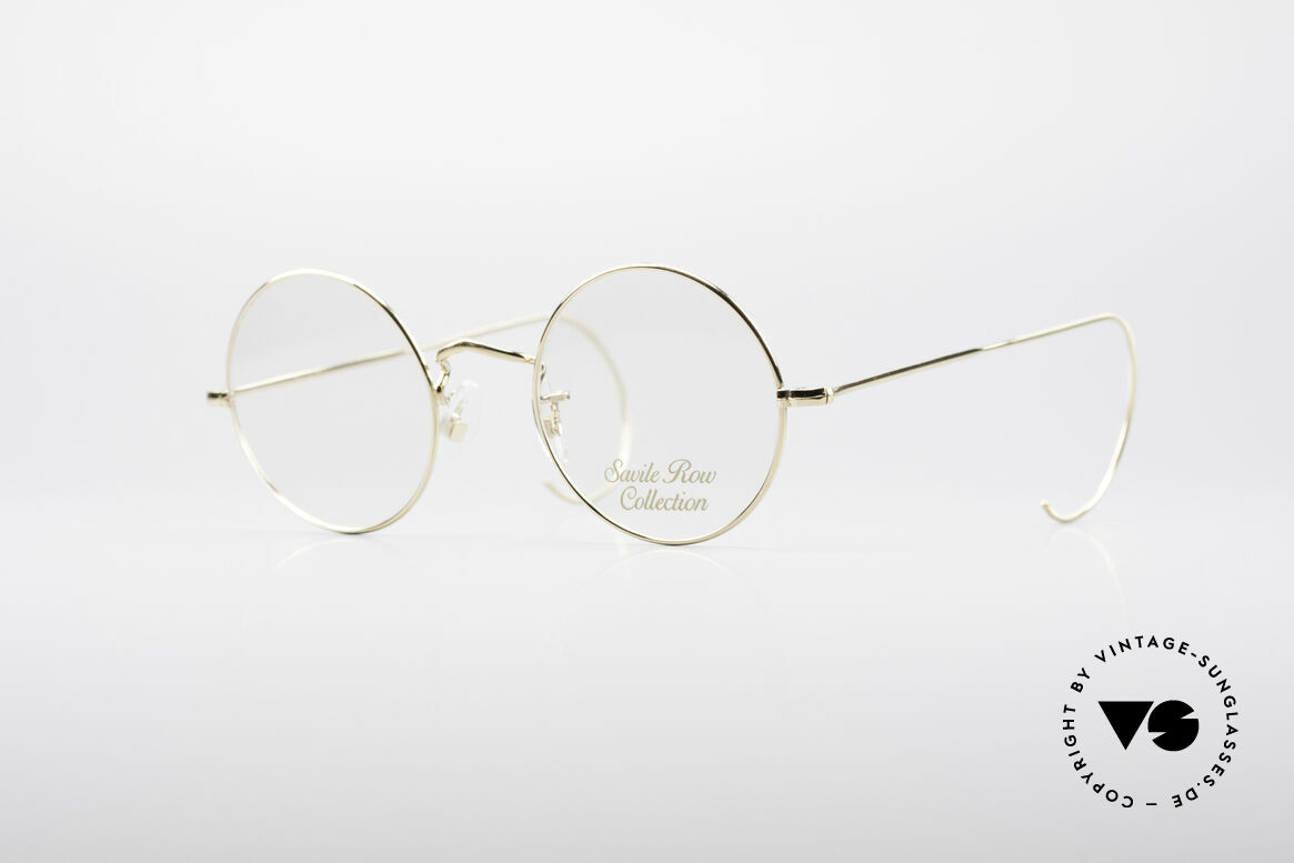 Savile Row Round 44/20 14kt Gold Frame, 'The Savile Row Collection' by Algha, UK Optical, Made for Men and Women