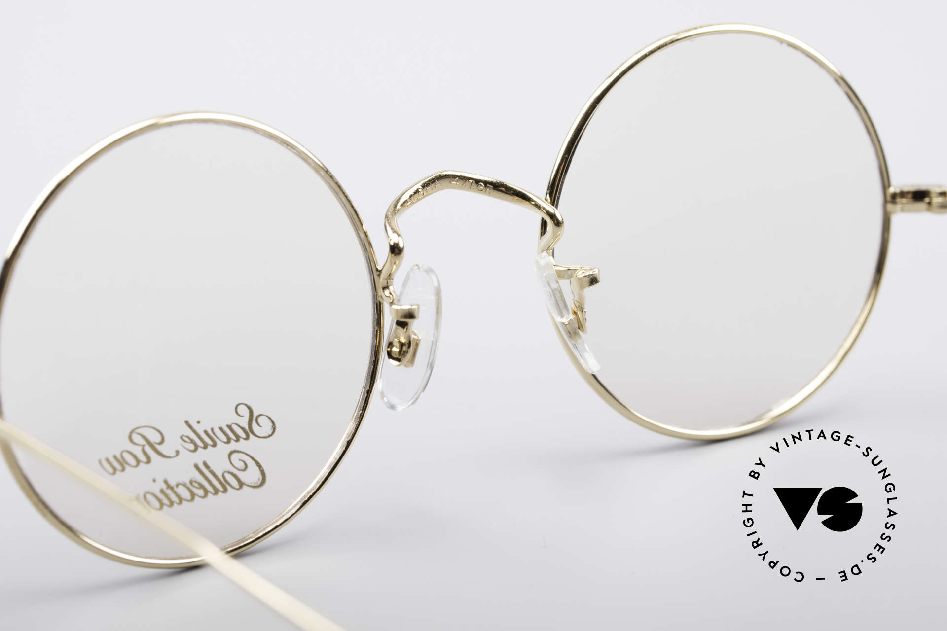 Savile Row Round 44/20 14kt Gold Frame, frame: 18% Nickel-Silver with a skin of 14kt gold, Made for Men and Women