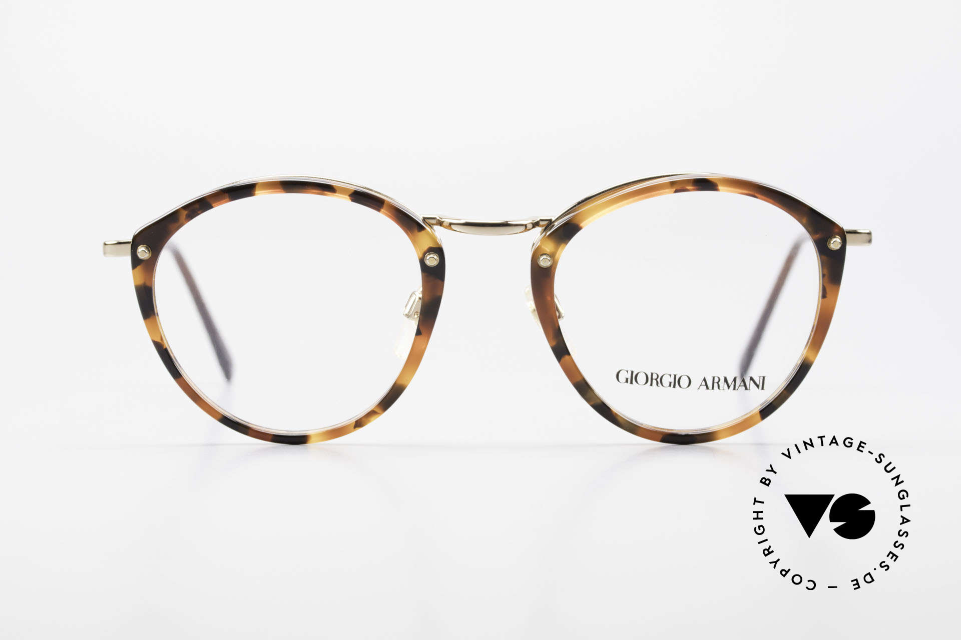 Giorgio Armani 354 No Retro Glasses 80's Frame, timeless elegant combination of colors and materials, Made for Men and Women