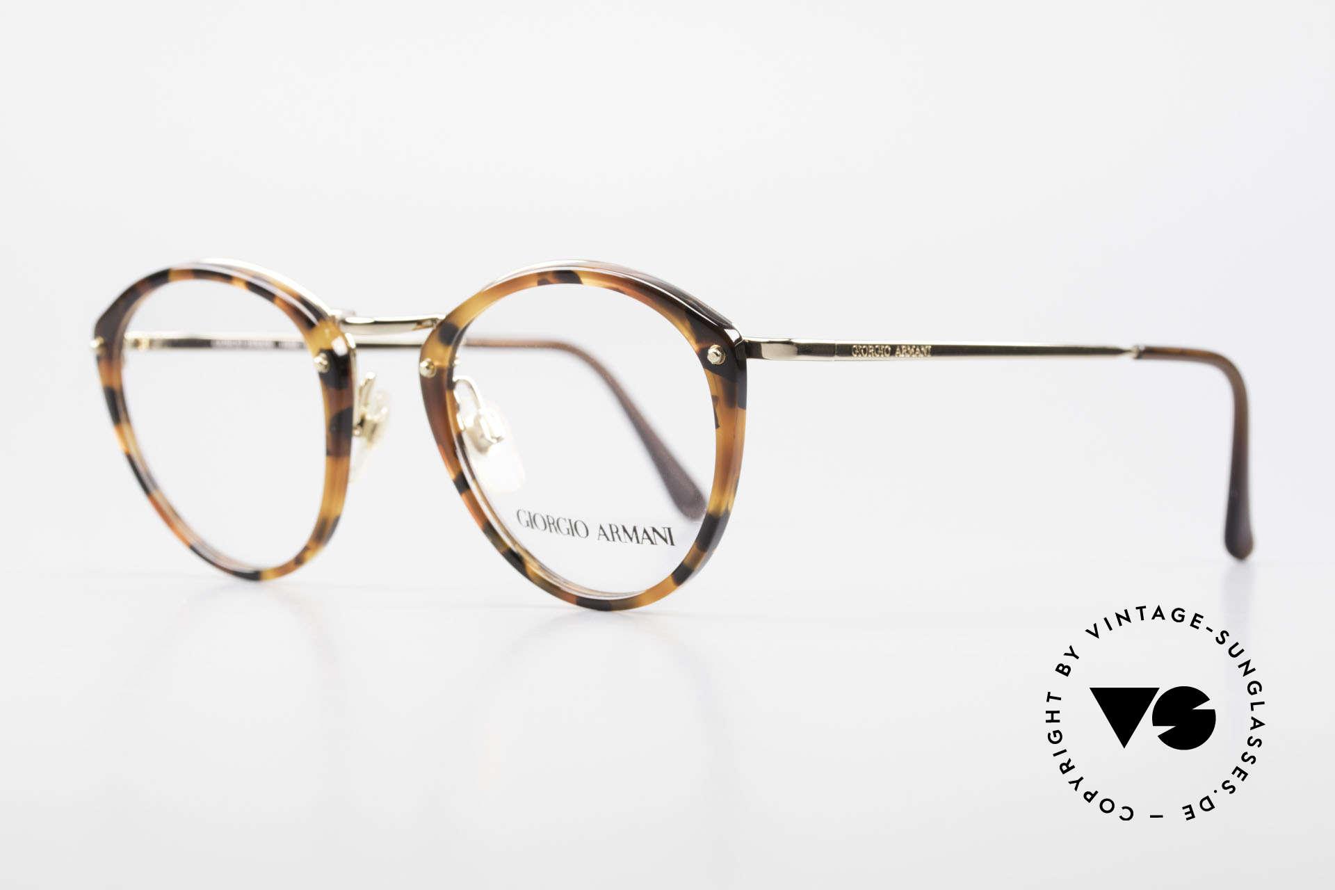 Giorgio Armani 354 No Retro Glasses 80's Frame, tortoise frame + golden bridge and gold metal temples, Made for Men and Women